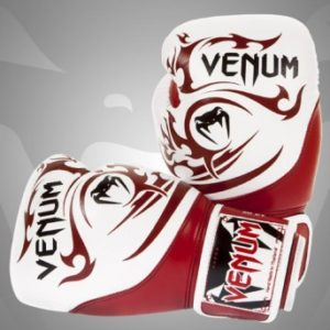 Venum Tribal Boxing Gloves - RedIce - Nappa Leather