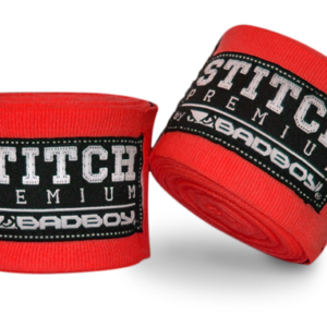 Bad Boy Stitch Premium Hand Wraps 5 m Stretch - Rode