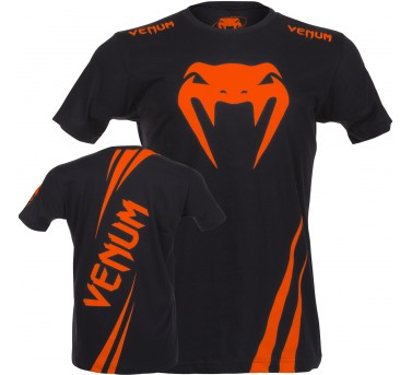 "Venum ""Challenger"" T-shirt - Black/Orange"