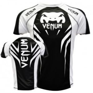 "VENUM ""ELECTRON 2.0"" WALKOUT DRY FIT T-SHIRT - BLACK/WHITE"