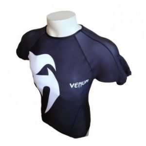 "VENUM ""GIANT"" RASHGUARD - SHORT SLEEVES - BLACK"